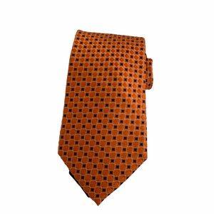 Tommy Hilfiger • Orange / Blue Silk Tie